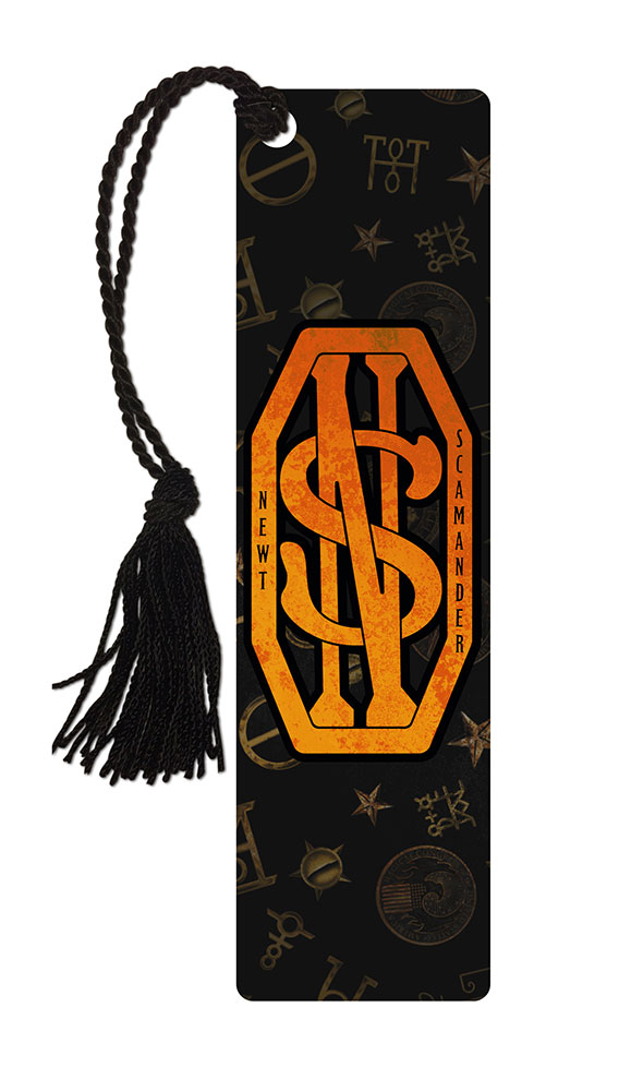 fantastic beasts and where to find them  newt scamander monogram  bookmark