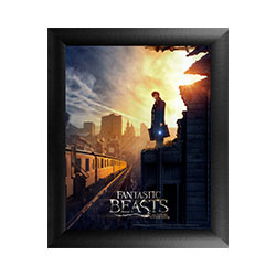 Fantastic Beasts are on the loose in New York City! It's 1926 New York and Newt Scamander, wanded and pensive, surveys a transit line from a damaged building.  Enjoy this inaugural art piece from the feature film Fantastic Beasts and Where to Find Them.