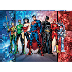 Celebrate the rise of the Justice League by adding this MightyPrint Wall Art to your DC Comics collection. This state of the art, light diffusing print features an officially licensed image collage of the members of the Justice League.