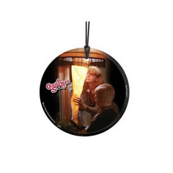It's a major award! Bring the fun, family, and all American glory of A Christmas Story to your window or festive wall with this StarFire Prints hanging glass. This collectible features an image of the classic Leg Lamp and comes with hanging string.