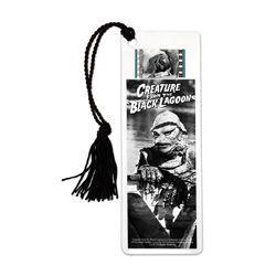 Take a step back into the era of classic horror every time you sit down to read with this FilmCells laminated bookmark. This collectible features an image of the Creature from the Black Lagoon and contains one clip of real 35m film from the movie.