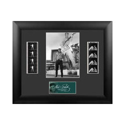 Bring the King of Rock n' Roll into your home with this FilmCells™ presentation. This special edition collectible features an officially licensed image of Elvis, a certificate of authenticity, and two strips of real 35mm film from his performances.