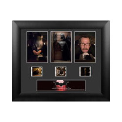 Celebrate the beginnings of Batman™ with this limited edition framed FilmCells presentation from Christopher Nolan's Batman Begins. This collectible features images of Batman and 35mm film cells from the movie.