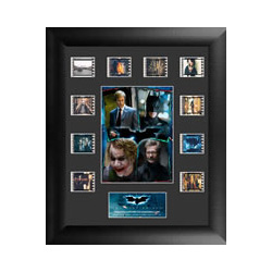 Relive the epic middle entry of Christopher Nolan's Batman Trilogy, The Dark Knight, with this limited edition of 2500 framed FilmCells™ presentation featuring an image collage of the main characters from the film; and 10 35mm filmcells.