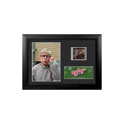 """You'll shoot your eye out."" Bring the fun, family, and all American glory of A Christmas Story to your collection with this FilmCells™ presentation. This collectible features an image of Ralphie (post-Red Ryder BB Gun), a certificate of authenticity."
