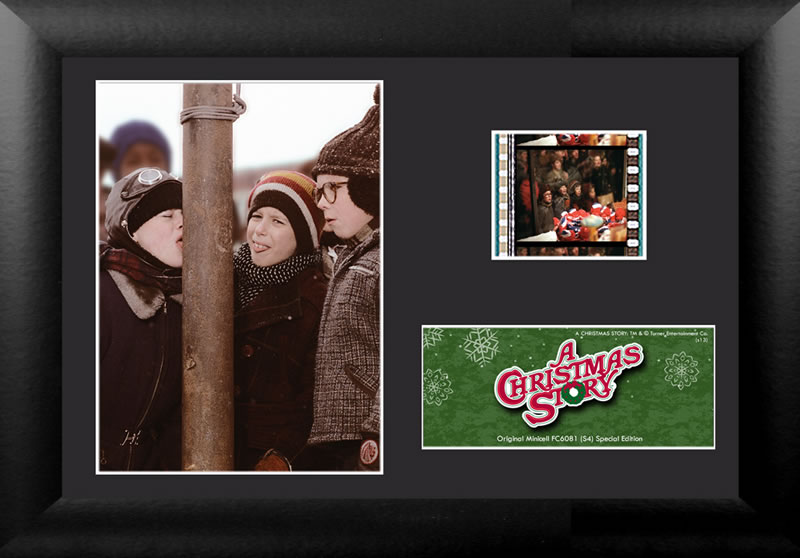 """I triple dog dare ya!"" Bring the fun, family, and all American glory of A Christmas Story to your collection with this FilmCells™ presentation."
