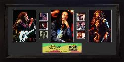 Bob Marley was born 6 February 1945 in a small village called Nine Miles in the parish of St. Ann, Jamaica. Now, you can have six 35mm film cells of the famous reggae musician in your house with this framed collectible.