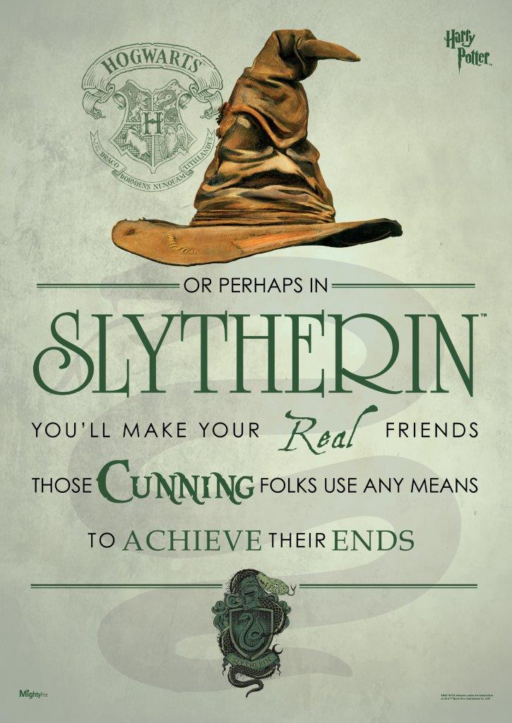 Harry Potter Sorting Hat Slytherin Mightyprint Wall Art