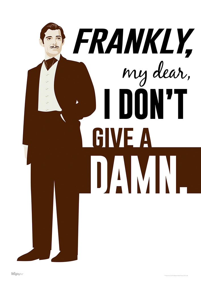 Gone With The Wind Frankly My Dear Mightyprint Wall Art Mp17240418 What's going to happen to me? mightyprint wall art mp17240418