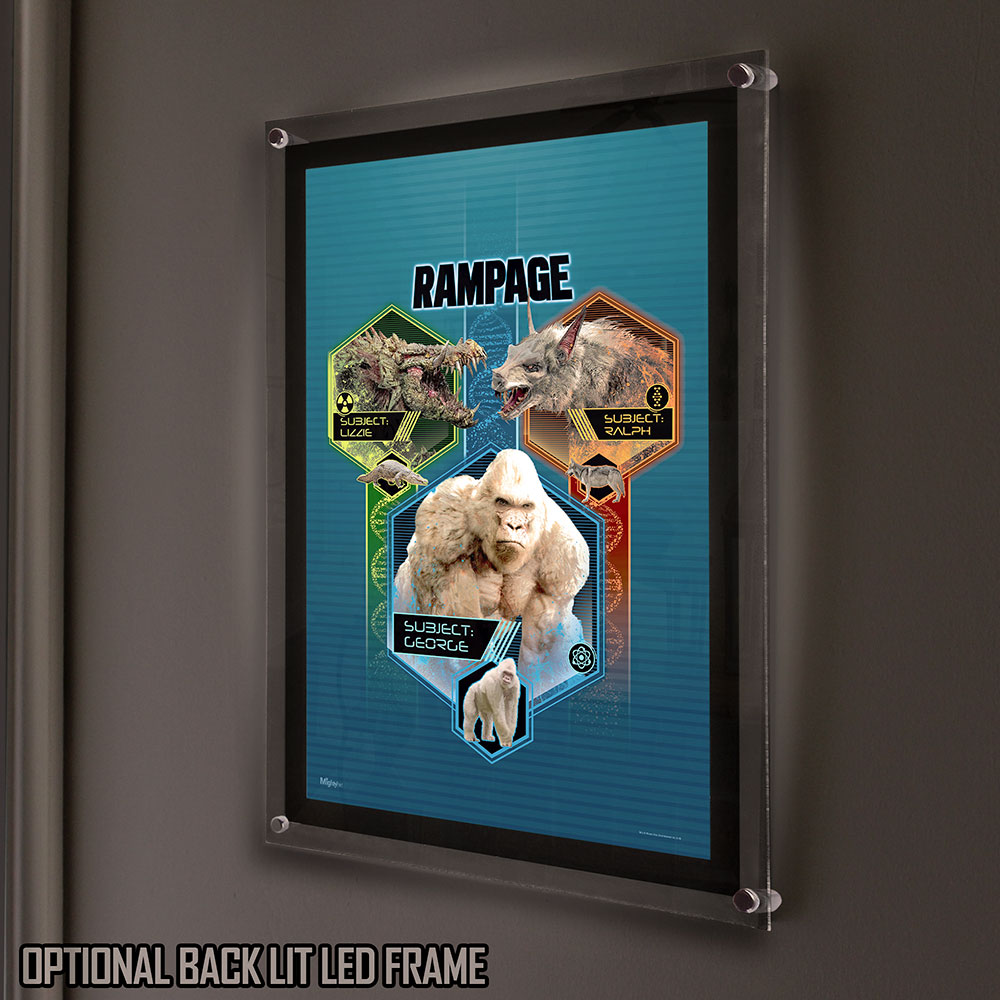 Rampage George Lizzie And Ralph Mightyprint Wall Art Mp17240424