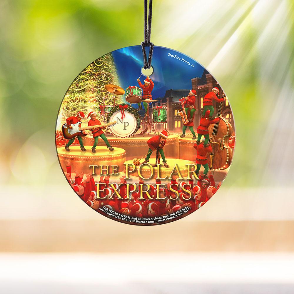 The Polar Express Elves Starfire Prints Hanging Glass Spcir499