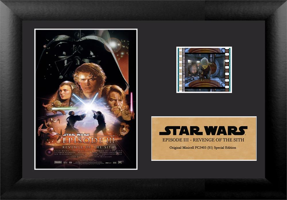 Film Cell Genuine 35mm Framed Star Wars Episode Iii Revenge Of The Sith Usfc2403