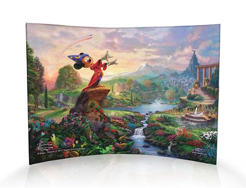 Walt Disney's Fantasia was innovative in its ability to bring animation and classic music together in a film that is unlike any other. Similarly to how Mickey Mouse brought broomsticks to life in the Sorcerer's Apprentice, Thomas Kinkade brings a scene fr