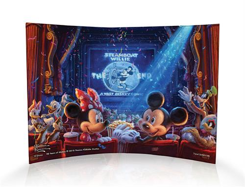 Mickey has given us 90 years of magic and memories and we celebrate his decades and decades of smiles with a new collection.  Mickey and Minnie, along with so many friends, gather together to celebrate Mickey Mouse then and now in this image.