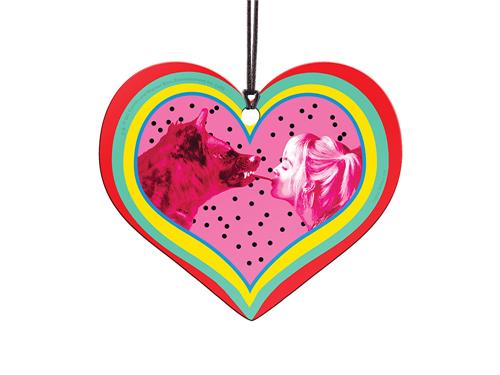 So long, Mr. J! As long as Harley has her wild hyena companion, she doesn't need a man by her side. This hanging acrylic heart shaped decoration features colors as bright and bold as Harley Quinn's personality along with an iconic image of Harley Quinn an