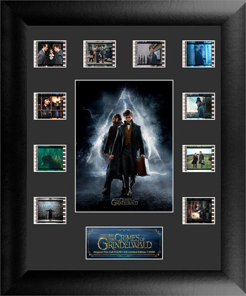 This officially licensed Fantastic Beasts: The Crimes of Grindelwald collectible features Newt Scamander and Dumbledore surrounded by 10 clips of authentic 35mm film from the movie!