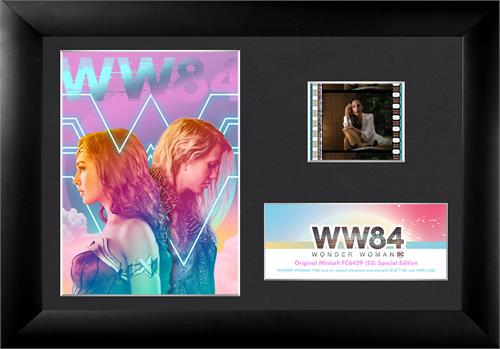 "Featuring Wonder Woman and Barbara Minerva AKA Cheetah standing back to back, this 7"" x 5"" collectible item also holds one 35 mm carefully handcut film clip from the film reel of Wonder Woman 1984."