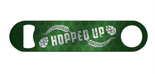 "Keep this Trend Setters Original ""Hopped Up"" bottle opener handy and whenever someone needs a bottle opened you can be like, ""I've got this. I'm … hoppy to help."""