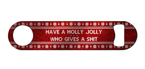 Have a Holly Jolly Who Gives a Shit.  So Festive.  Great accessory or prize for ugly Christmas sweater parties!
