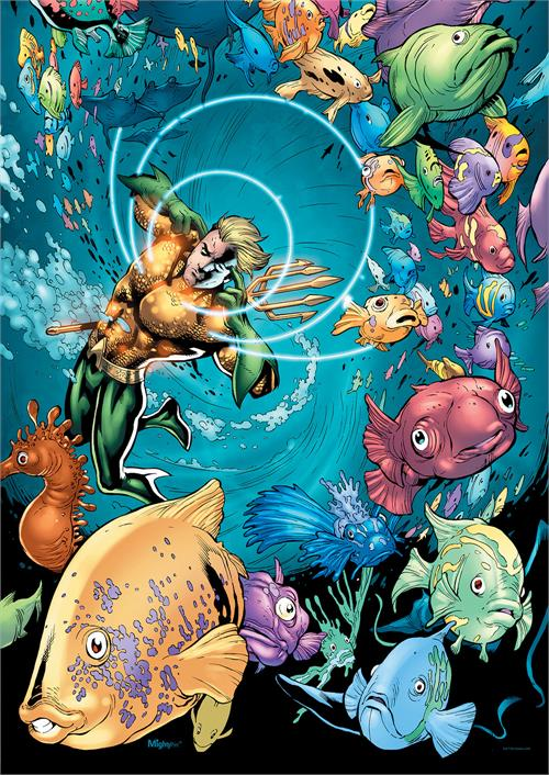 Listen. Aquaman is badass. Don't listen to what you've been told.   Anyway, here's Aquaman talking to fish.   (Talking to fish is still badass.)