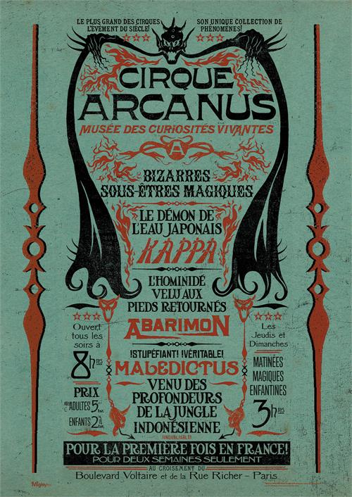 The world's most complete congress of human oddities, the Circus Arcanus! It's worth coming miles to see or at least show our officially licensed MightyPrint™ Wall Art off at your house. It's extremely tough and shows off vivid details.