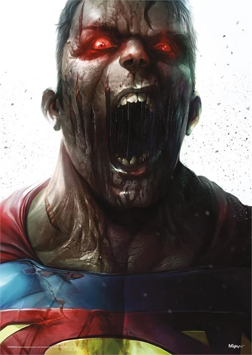 "The mighty Superman has been infected by the infamous virus from the DCeased comics and turned into a zombie. This 17"" x 24"" MightyPrint Wall Art shows great detail of the infected Superman."