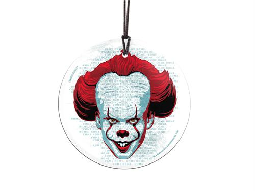 Pennywise the Dancing Clown is front and center in this StarFire Prints™ Hanging Glass Collectible. He's ready for you to Come Home back to Derry to finish what was started 27 years ago. Comes with hanging string for easy display.