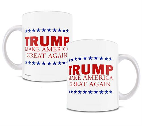 Trump is working on Making America Great Again, but he's not done yet. Show your continued support in Making America Great Again with this white ceramic mug.