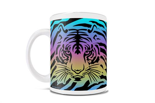 Mullets, tigers, two husbands, oh my! Tiger King is certainly a unique documentary as it touches on big cats, murders, polygamy and more, making it a hit Netflix show. This tiger striped patterned mug features the colors of the rainbow and a tiger.