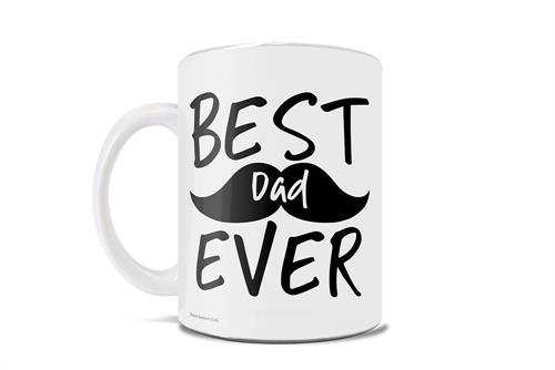 Celebrate the best dad ever with this 11 oz ceramic mug! Featuring a cute mustache in the background, this is perfect for the dad with the best facial hair in town.