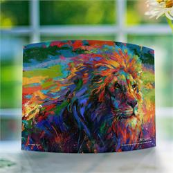 The majestic lion has vibrant colors added to it in this art by Blend Cota. The King of the Jungle looks stunning as light courses through the frame, letting the colors pop off the print. This unique print will look great wherever you place it.