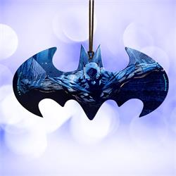 Batman takes flight on this officially licensed DC Comics Bat Symbol shaped acrylic collectible.