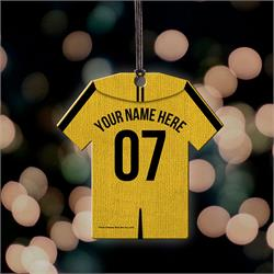 . Now, you can show your Quidditch team pride off with a personalized Hufflepuff Jersey. Add your name and number to this hanging acrylic decoration to show which house you want to win it all this year!