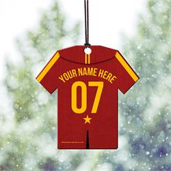 . Now, you can show your Quidditch team pride off with a personalized Gryffindor Jersey. Add your name and number to this hanging acrylic decoration to show which house you want to win it all this year!
