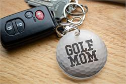 You're always there for their outings and show off your pride for your sports star however you can. Now, you can show that you're a proud golf mom with this acrylic keychain.