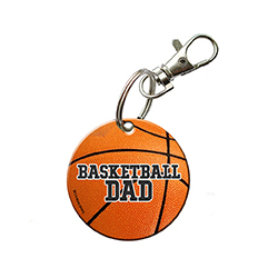 You're always there for their games and show off your pride for your sports star however you can. Now, you can show that you're a proud basketball dad with this acrylic keychain.
