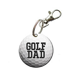 Fore! You're always there for their outings and show off your pride for your sports star however you can. Now, you can show that you're a proud golf dad with this acrylic keychain.