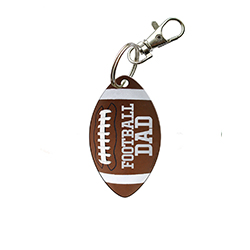 You're always there for their games and show off your pride for your sports star however you can. Now, you can show that you're a proud football dad with this acrylic keychain.