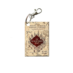 Is your Mischief Managed? Show that you are up to no good with this Marauder's Map acrylic keychain. Moony, Wormtail, Padfoot and Prongs got plenty of use from the map, and now you can to as you take it on your travels.