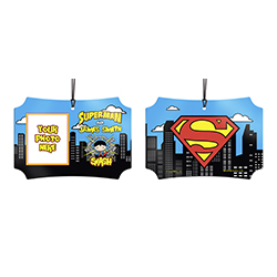 You're the Man of Steel in your spare time. Now, show off to the world that you're Superman with this personalized hanging metal decoration. Add your photo and name so that everyone remembers what you're also known as.