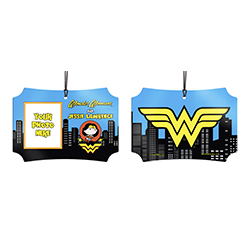 You know you're the Amazonian Princess. Now, show off to the world that you're Wonder Woman with this personalized hanging metal decoration. Add your photo and name so that everyone remembers what you're also known as.