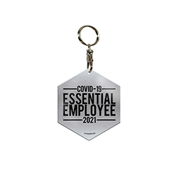 Whether you are an essential employee or have a loved one working during the coronavirus pandemic, this hexagon shaped metal keychain is the perfect gift of appreciation.