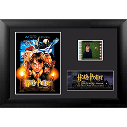 Relive where the magic began with this collectible Minicell of Harry Potter and the Philosopher's Stone. Each framed MiniCell comes with an authentic film cell from the movie. This is a perfect piece for the Harry Potter fan in your life!