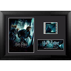Find all the Horcruxes as fast as you can! Remember the penultimate movie in the series with this collectible MiniCell of Harry Potter and the Deathly Hallows Part 1. Each framed MiniCell comes with an authentic film cell from the movie. This is a perfect
