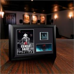 The frame features Pennywise with silhouettes of The Losers Club at the bottom, as well as a film cell from the movie. This piece is the perfect centerpiece for any fan of the Stephen King created movie.