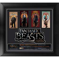 Jacob! Tina! Newt! Queenie! Meet the fantastic main characters of Fantastic Beasts and Where to Find Them™. This carefully crafted, framed-and-matted movie art features high-quality images of the protagonists and a close-up view of their wands.