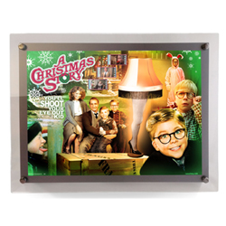 Bring the fun, family, and all-American glory of A Christmas Story to your collection with this LightCells Presentation. This collectible features a collage of many of the iconic moments of the film, contains three clips of 35mm film from the movie.