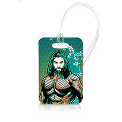 You know what your luggage needs? Protection by the King of the Atlanteans.   Travel in style with our officially licensed, extraordinarily durable luggage tags.