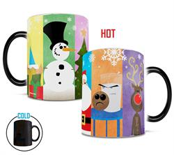 Bring the whole Christmas gang to every hot cup of coffee with this Morphing Mugs® heat-sensitive mug. This mug features a lineup of some of our favorite winter characters.