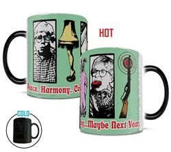 Remember many of the memorable elements from A Christmas Story with this Morphing Mugs heat-sensitive mug featuring a collage of those moments.